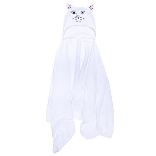 RIPNDIP Offical Lord Nermal Hooded Towel - White