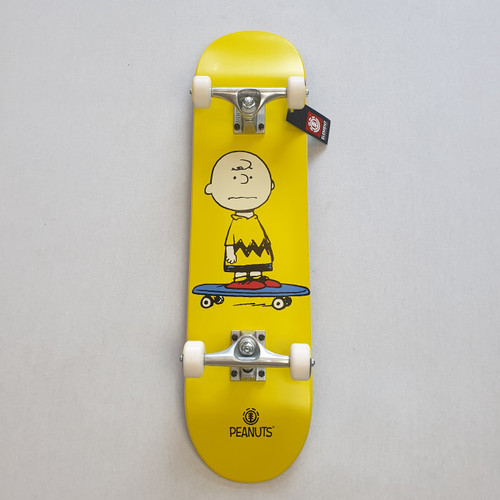 """Element x Peanuts - Charlie Brown Pro 7.75"""" Complete Skateboard"""