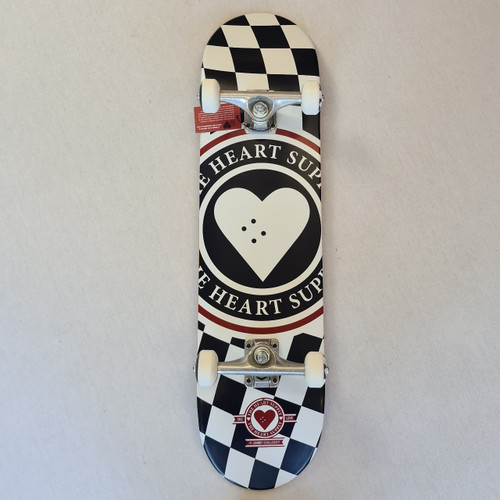 Heart Supply - Complete skateboard - Check - 8.25 - Black/White