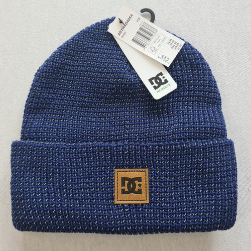 DC Skateboards Sight Beanie Hat - Blue Reflective Material