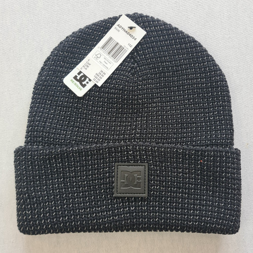 DC Skateboards Sight Beanie Hat - Black Reflective Material