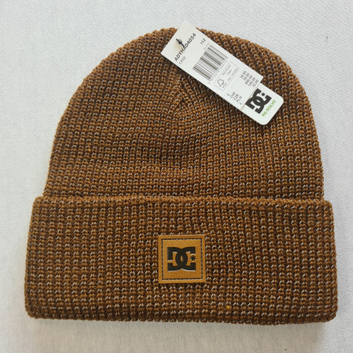 DC Skateboards Sight Beanie Hat - Brown Reflective Material