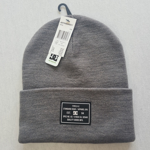 DC Skateboards Label Beanie Hat - Grey