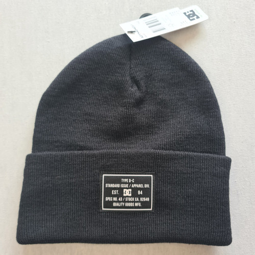DC Skateboards Label Beanie Hat - Black