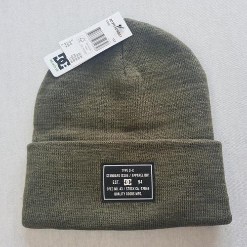 DC Skateboards Label Beanie Hat - Olive
