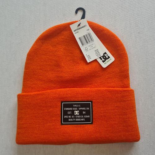 DC Skateboards Label Beanie Hat - Orange