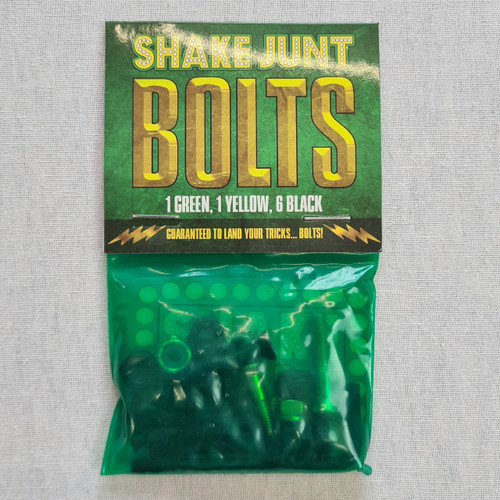 Shake Junt 1 Inch Allen Hardware Bolts - 4 Black 1 Green 1 Yellow