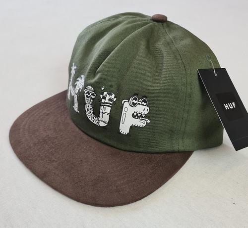 HUF Worldwide x Steven Harrington Snapback Hat - Olive