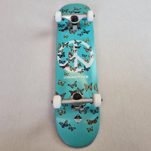"Primitive 7.75"" Pro Butterfly Complete Skateboard Setup - Teal"