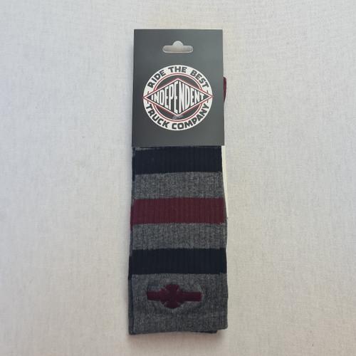 Independent Socks Classic Dot Logo Socks - Grey