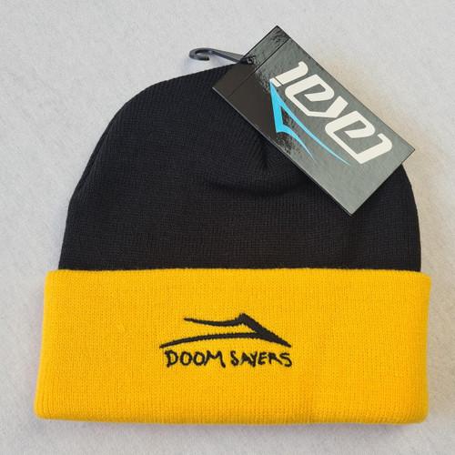 Lakai Skateboards x Doomsayers Two Tone Beanie - Black/Yellow