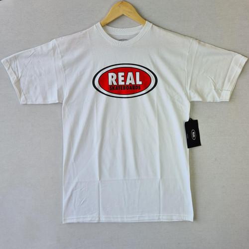 REAL Skateboards - Oval Logo Tee - White