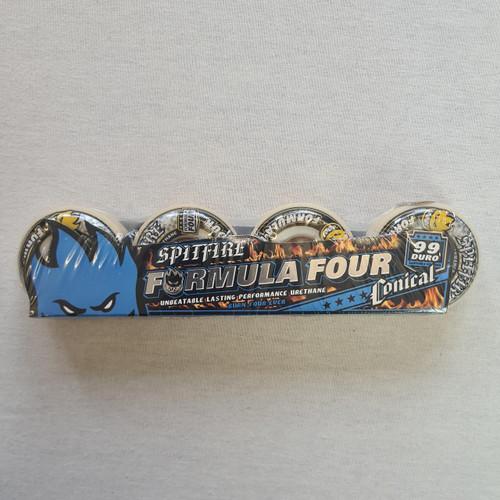 Spitfire Formula Four 99 Duro Conical Blue Skateboard Wheels - 52mm