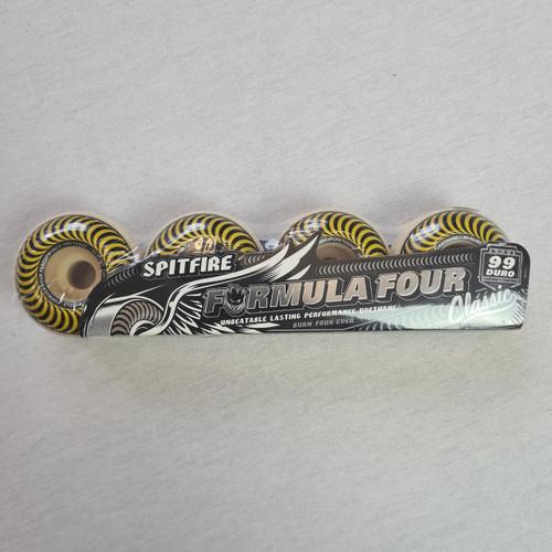 Spitfire Formula Four 99 Duro Classic Yellow Skateboard Wheels - 55mm