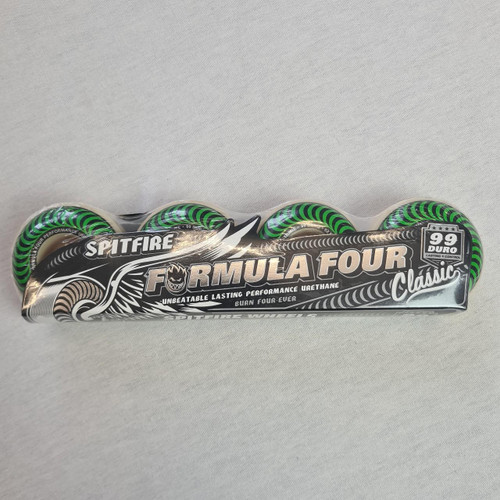 Spitfire Formula Four 99 Duro Classic Green Skateboard Wheels - 52mm