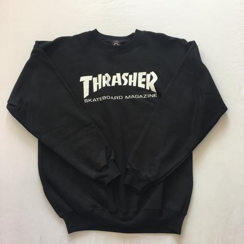 Thrasher Crew Skate Mag Logo - Black