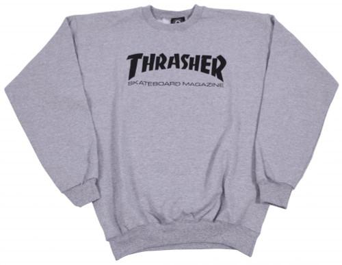 Thrasher Crew Skate Mag Logo - Grey