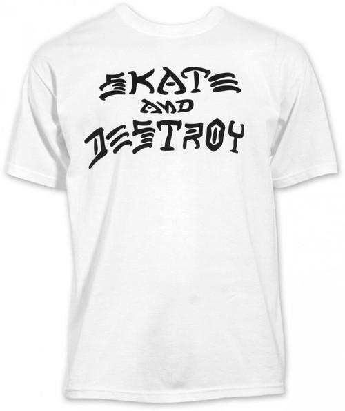 Thrasher - Skate And Destroy Tee - White