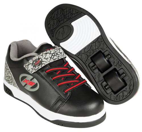 Heelys X2 - Dual Up - Black/Grey/Elephant