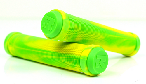 Root Industries - Mix Scooter Grips - Green / Yellow