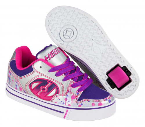 Heelys Motion Plus - Silver/Pink/Purple/Drip