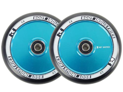Root Industries 110mm Air Wheels - Pair - Black on Blue