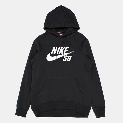 Nike SB Icon Hoody Pullover - Black and White