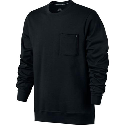 Nike SB  L/S Crew Pocket Top - Black