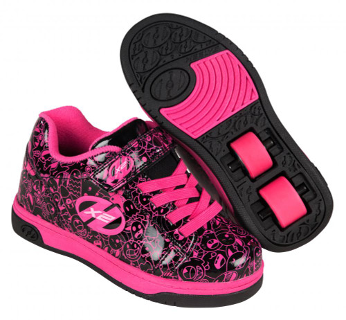 Heelys X2 Dual Up - Black/Hot Pink/Graphic