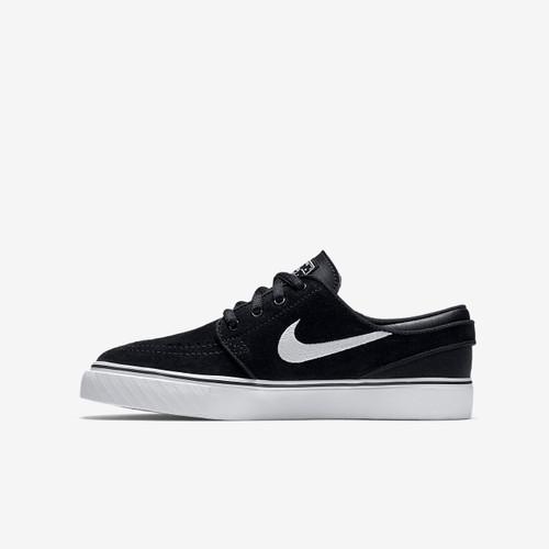 Nike SB Zoom Stefan Janoski Older Kids' Skateboarding Shoe - Black/Gum Medium Brown/White