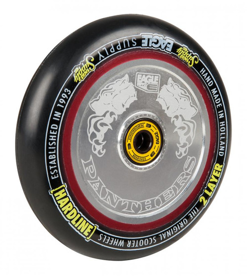 Eagle Stunt Scooter Wheel 115mm Hollow Core Panthers - Silver / Black