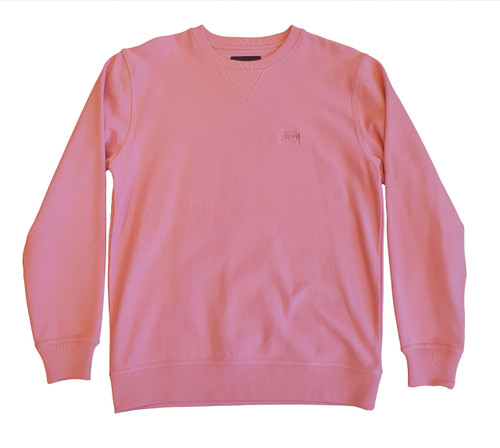 Stussy - Stock Long Sleeve Terry Crew - Pink