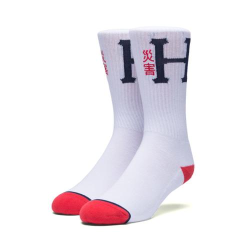 HUF Worldwide Disaster Crew Socks - White