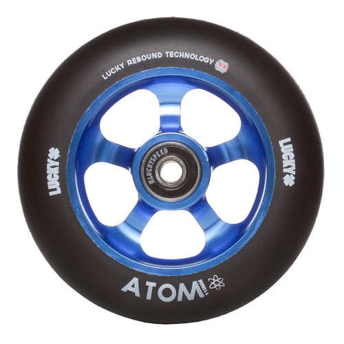 Lucky Atom 110mm Scooter Wheel - Black / Blue