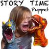 Puppets (hand), Soft Vinyl Dinosaur Mid Arm Length Set of 2