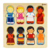 Wooden Human Ethnicity Puzzle 8pc