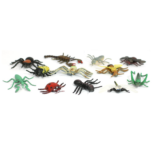 Small Mini Beasts Soft Feel 12 Different Insects