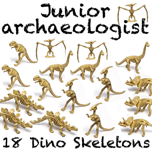 "6"" - 7"" PVC Dinosaur Skeleton (bundle of 18)"