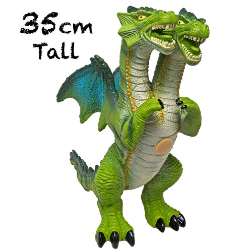 Dragon Large, Toddler Soft Mythical Two Headed Green