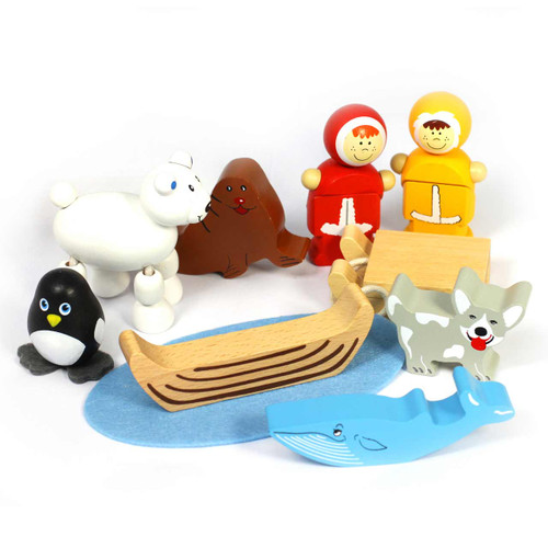 Multi-Cultural Teacher Led Activity Cultures Around the World Wood Inuit Playset