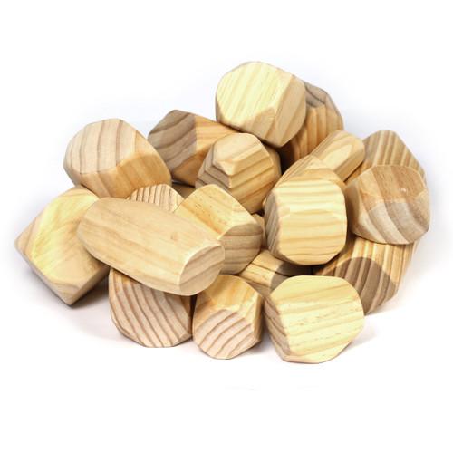 Wood Effect Stone & Boulder Set 18 Piece