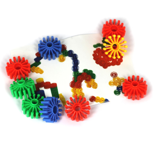 40PC Construction Set Soft Cogs Various Colours