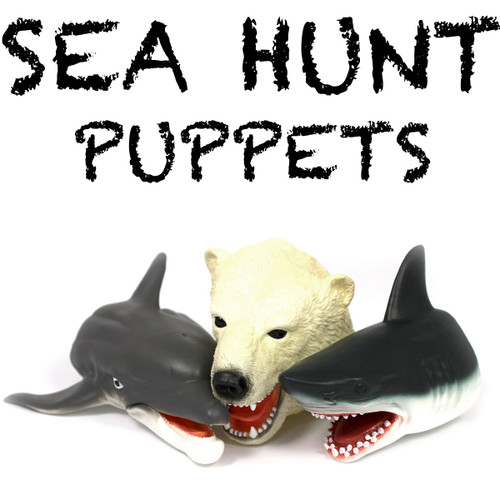 Shark, Dolphin And Polar Bear Animal Puppet Bundle