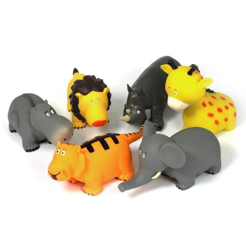 Soft Feel Cartoon Style Wild Animals Bundle Of 6