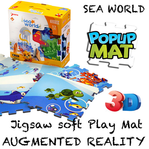 12pc Augmented Reality Puzzle Mat Sea World