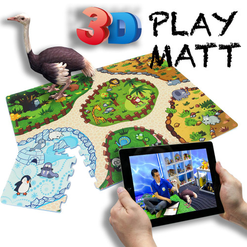 Augmented Reality 12pc Puzzle Mat Animal Land