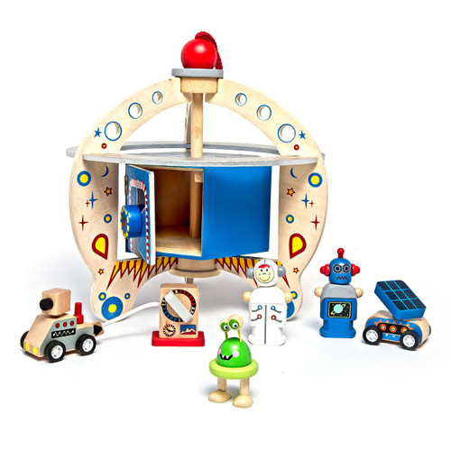 Portable Wooden Space Playset