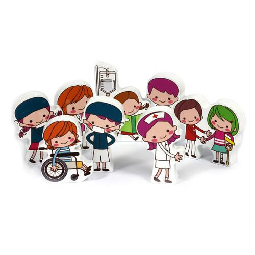 8Pc 15mm Thick Hospital Character Group