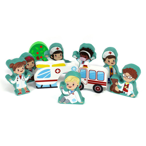 10Pc 15mm Thick Ambulance Character Group