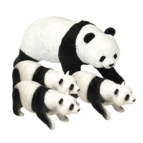 Panda Family 4 Pc 1 x Medium 3 x Small